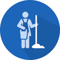 Nursing facility cleaning icon