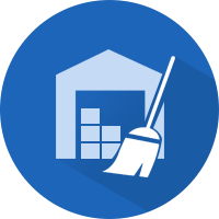 warehouse cleaning icon